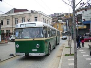 Trolleybus in Valparaíso