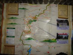 Wanderkarte der Cameron Highlands