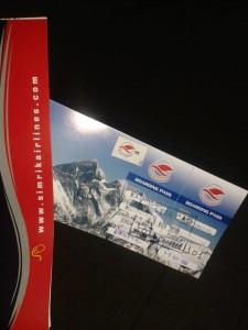 Ticket für den Rundflug zum Mount Everest