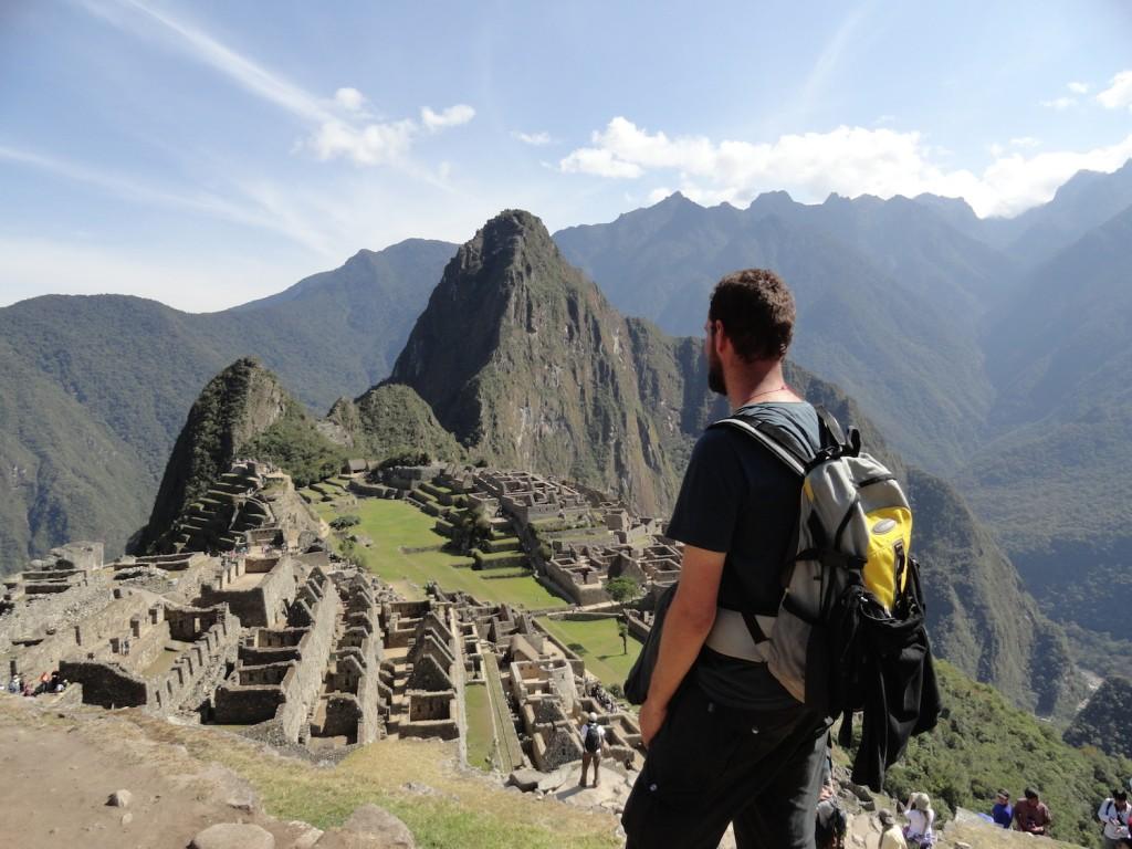Neuer Rucksack am Machu Pichu