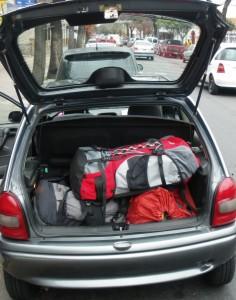 Am Abreisetag: Rucksack