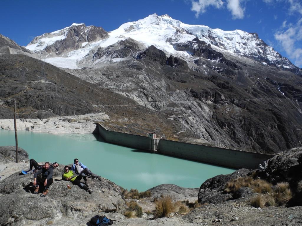 Entspannen am Fuße des Huayna Potosí