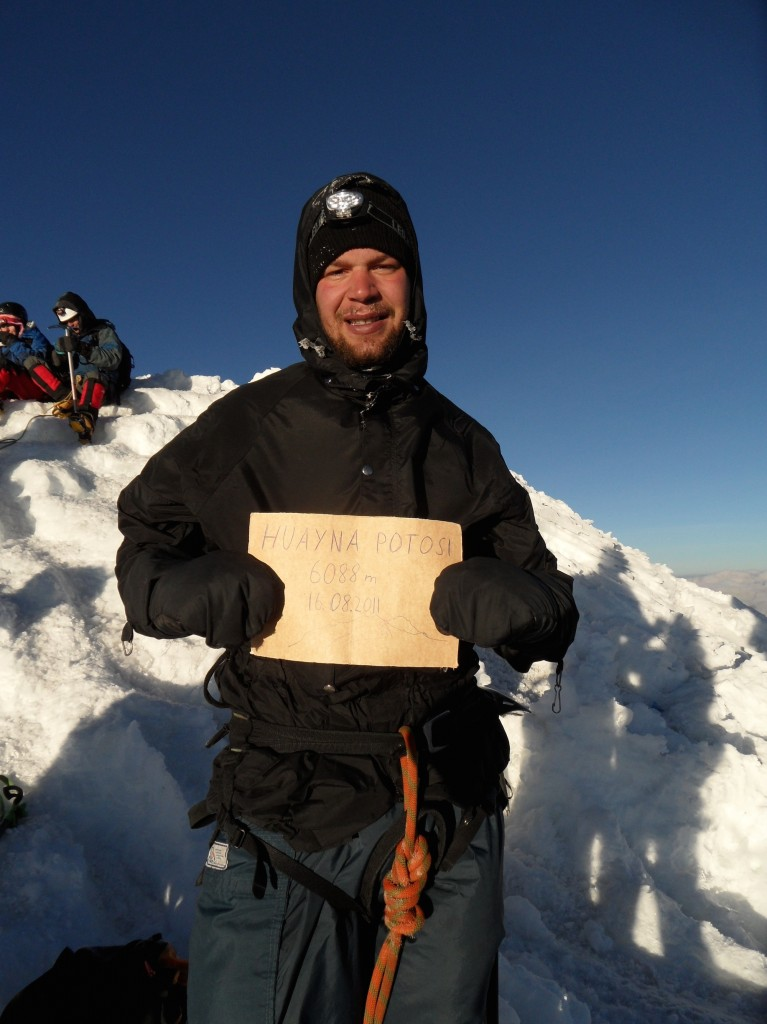 Glücklich auf dem Gipfel