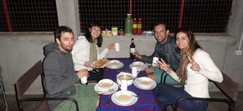 Weihnachtsessen in Nyani Camp