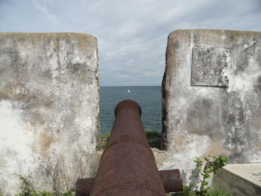 Kanone auf dem Fortaleza de São Sebastião