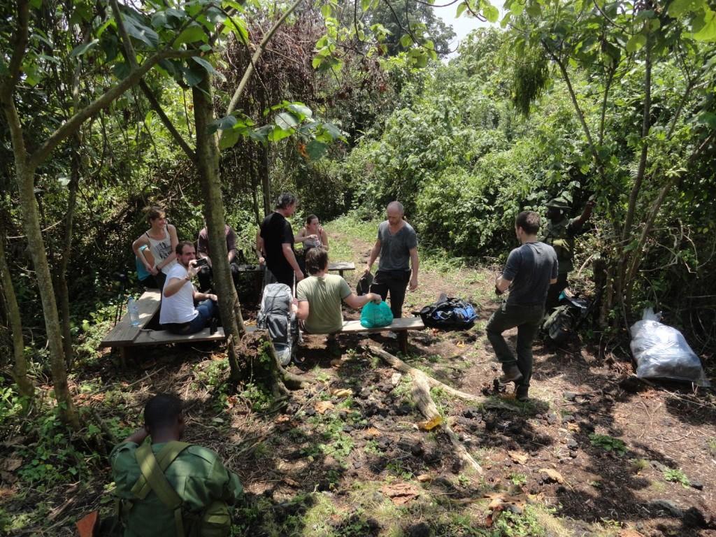 Erste Pause am Nyiragongo