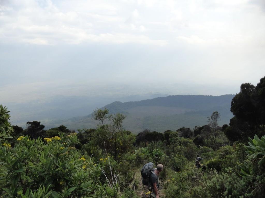Der südliche Krater am Nyiragongo