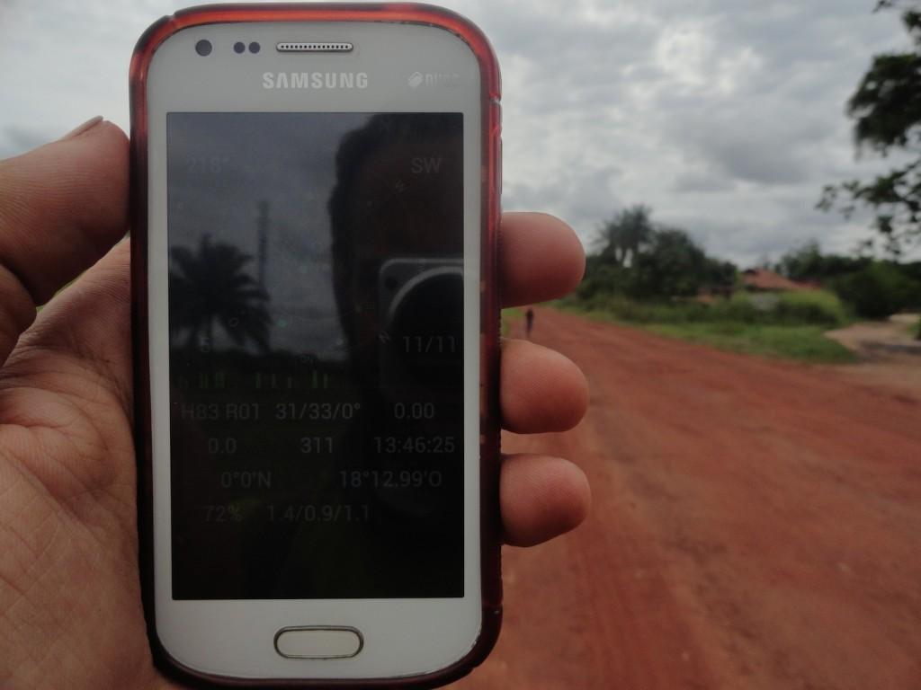 Bild am Äquator bei Mbandaka