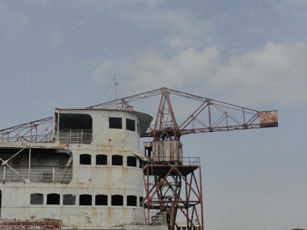 Passagierschiff Goma in der Werft in Kinshasa