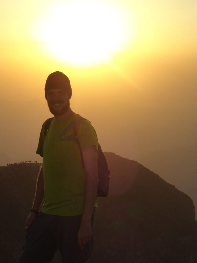 Ich im Sonnenuntergang