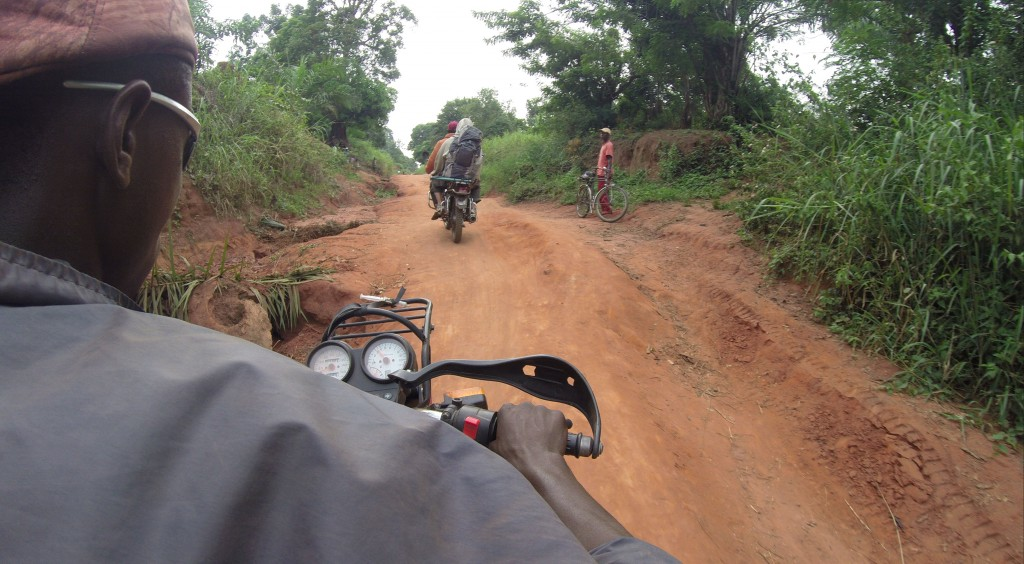 Bad roads in northern Congo
