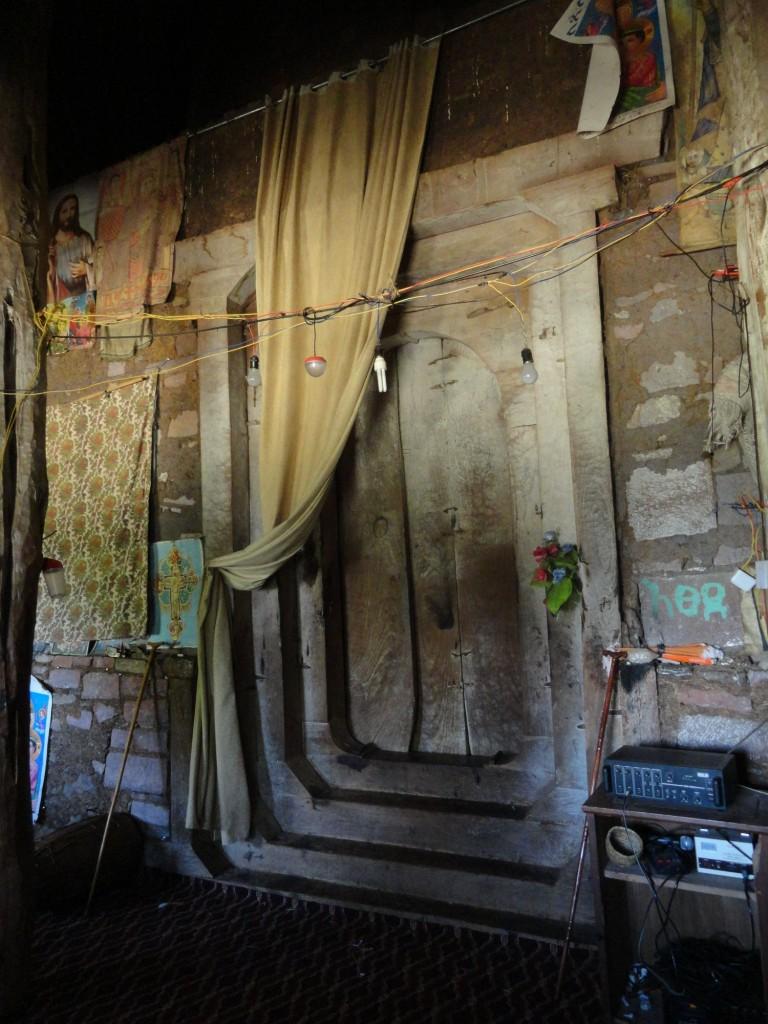 Tür im Kloster Debra-Mariam