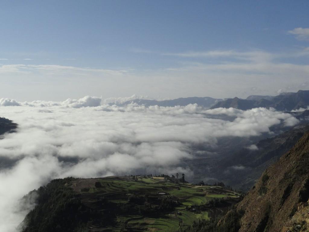 Berglandschaft vor Lalibela