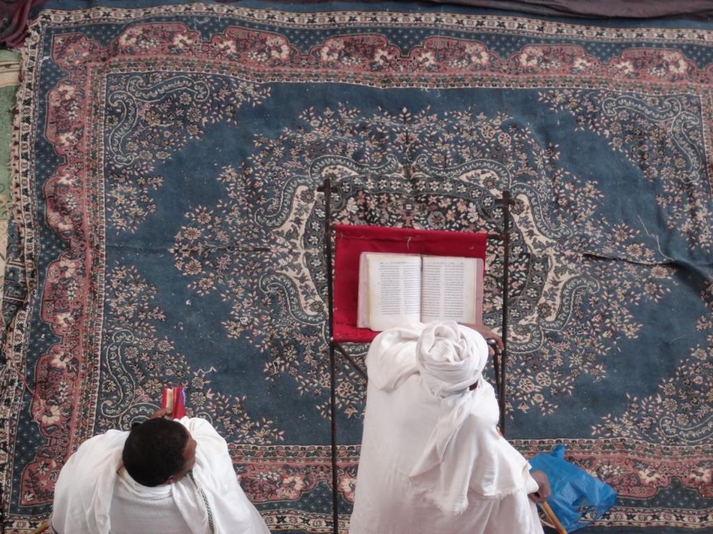 Gesänge vor dem Gottesdienst in Bet Maryam
