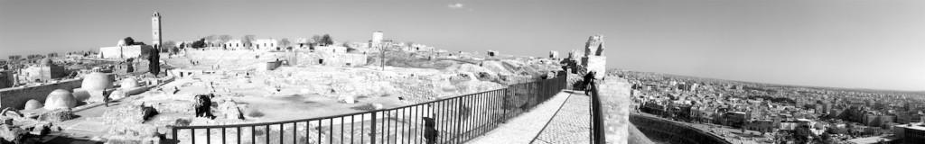 Panorama der Zitadelle von Aleppo