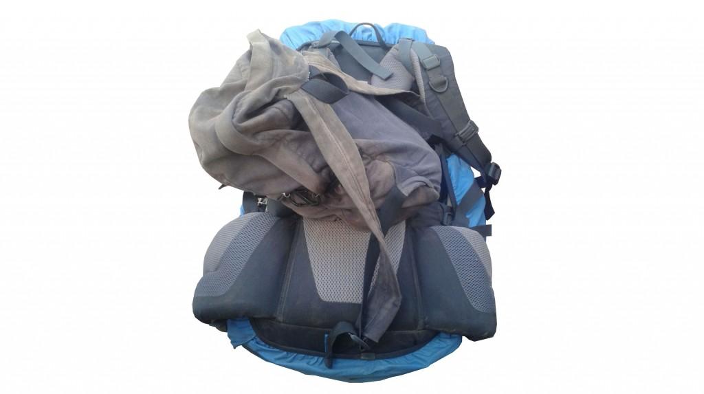 Rucksack im Einsatz