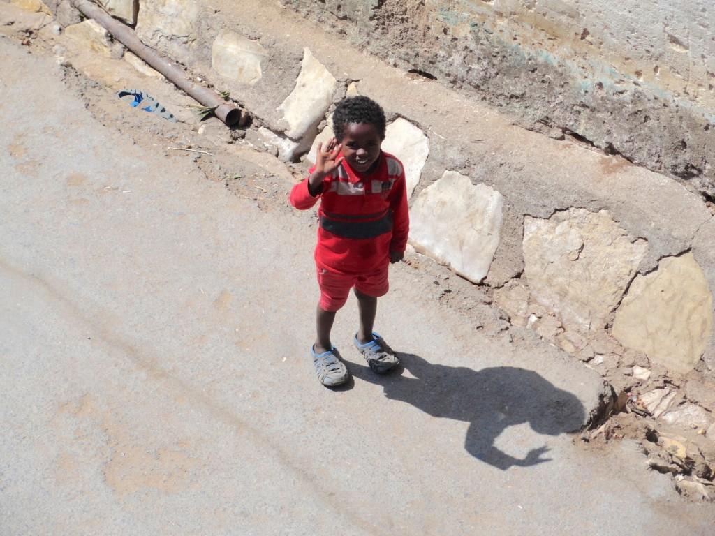 Freundliche Kinder in Harar