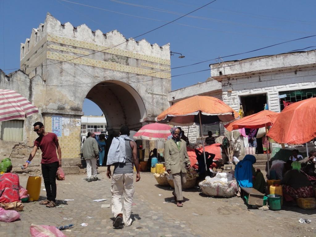 Shoa Tor und Markt in Harar