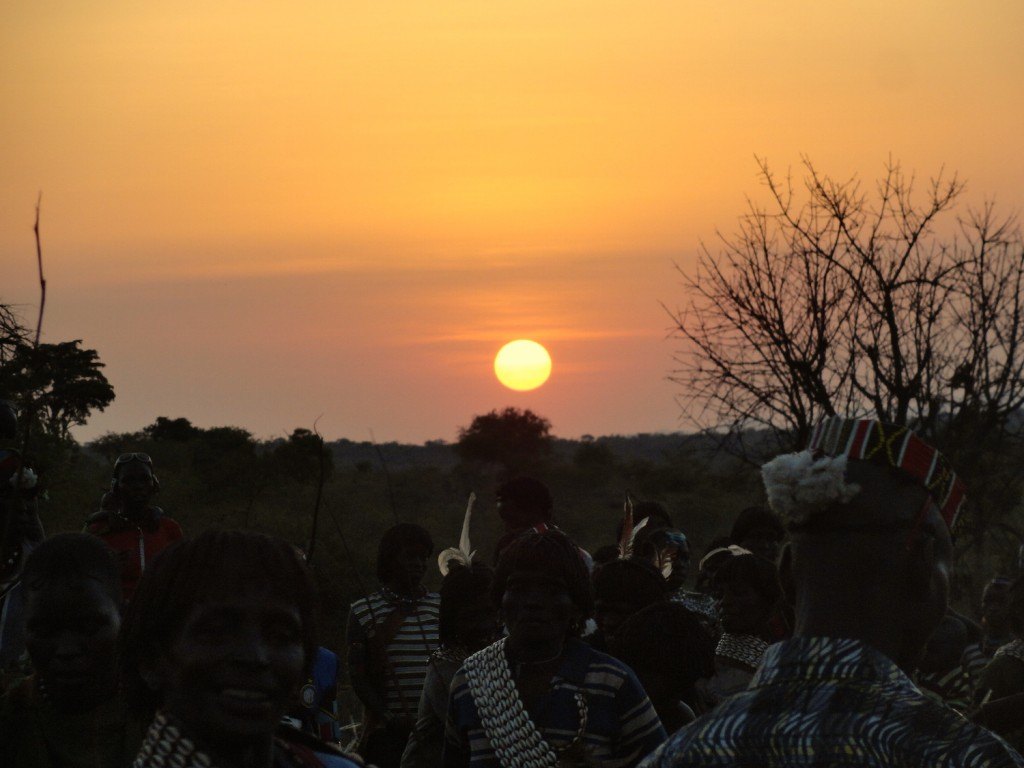 Sonnenuntergang im Banna Gebiet