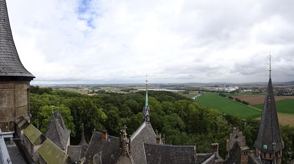 Blick über die Region um Schloß Marienburg