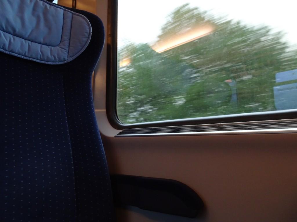 Immer unterwegs - in der Bahn