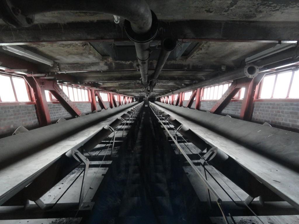 Förderbänder in der Kohlewäsche