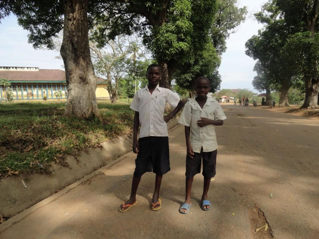 Two boys posing in Lisala