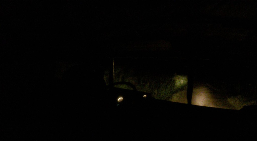 Night time driving - pitch black jungle