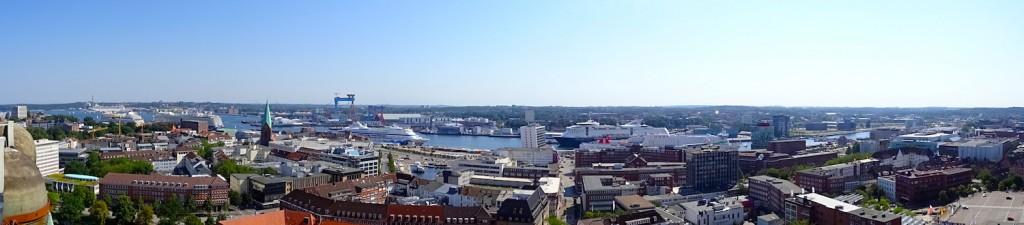 Aussicht über Kiel