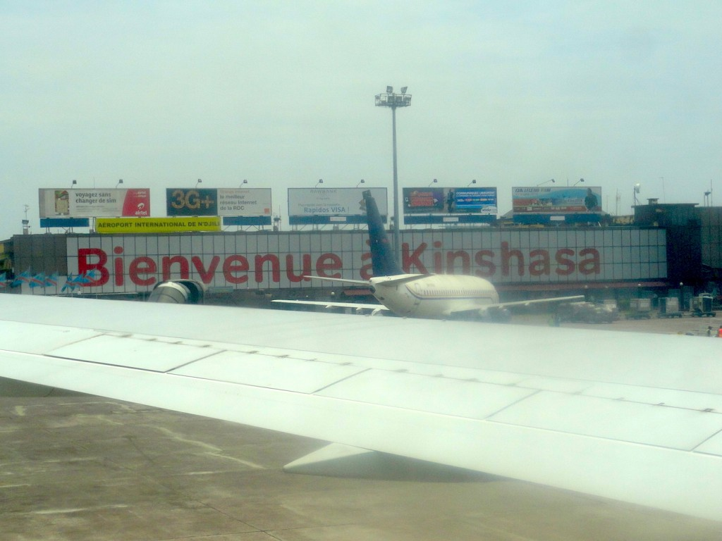 Welcome at Kinshasa airport