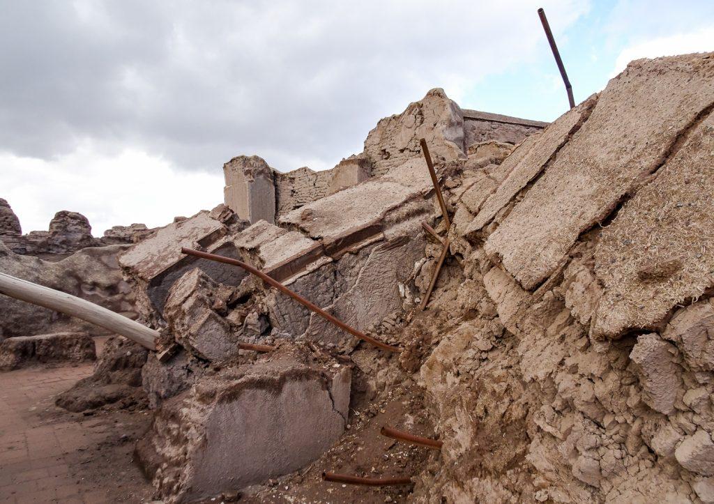 Zerstörte Moschee in der Festung