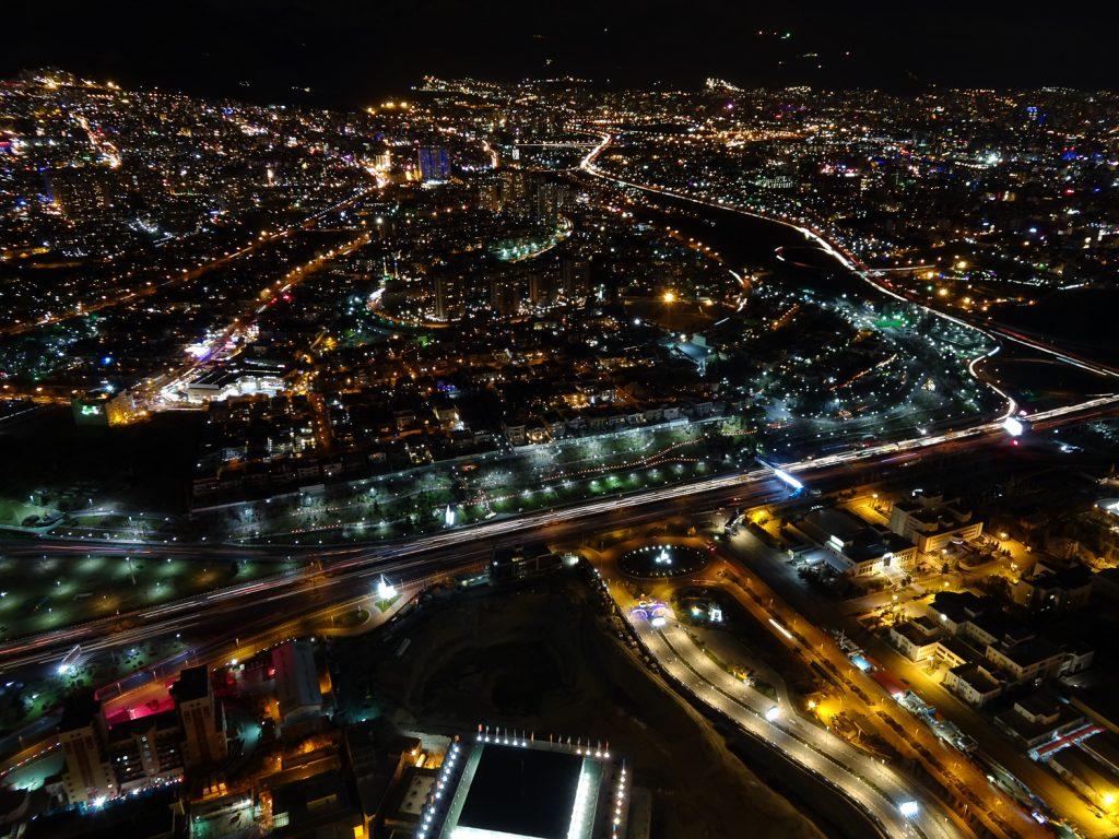 Straßen Teheran's bei Nacht