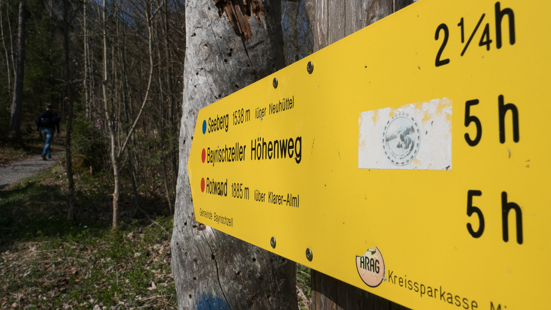 Wegweiser in Bayrischzell