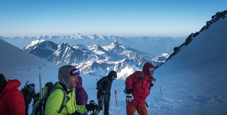 Sattel des Elbrus