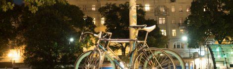 Fahrräder am Donaukanal