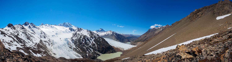 Panorama über die Gletscher Río Túnel