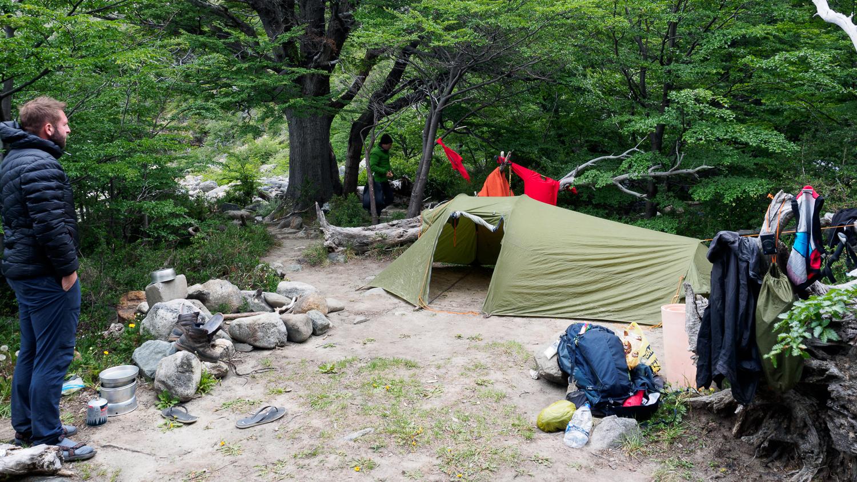 Campamento Bahia de los Témpanos