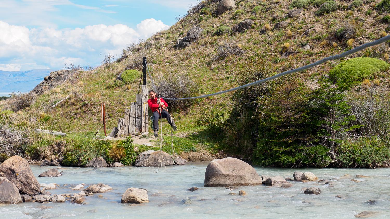 Zweite Tirolesa über den Río Túnel