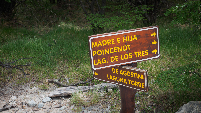 Wegweiser in Patagonien