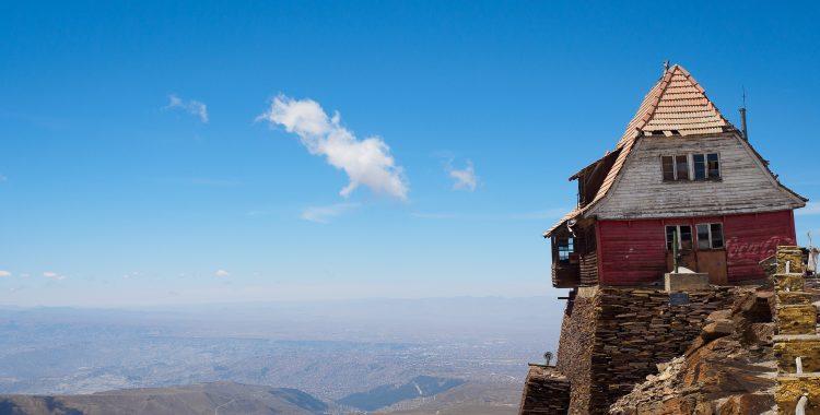 Hütte am Chacaltaya