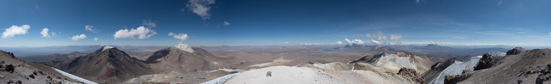 Panorama vom Acotango Gipfel