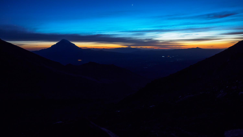 Sonnenaufgang am Parinacota