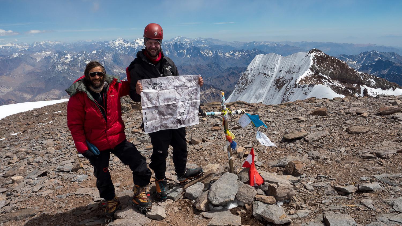 Gipfelfoto am Aconcagua