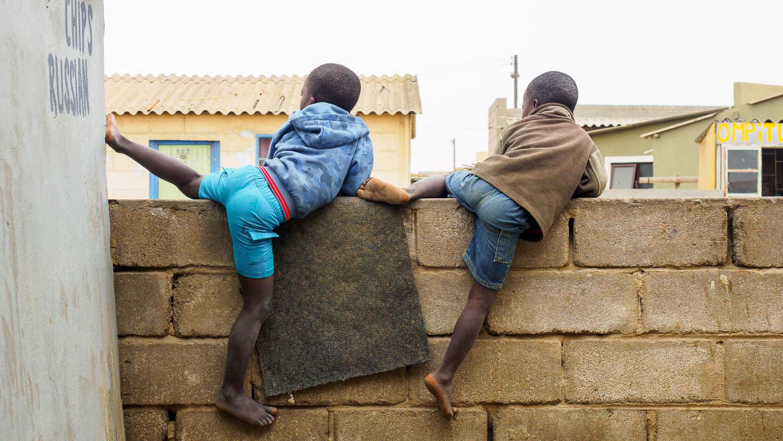 Kinder in den Townships Swakopmunds