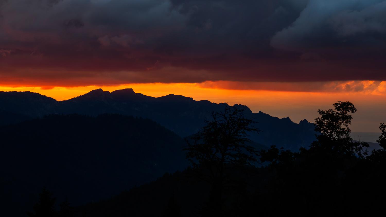 Sonnenuntergang auf der Kührointhütte