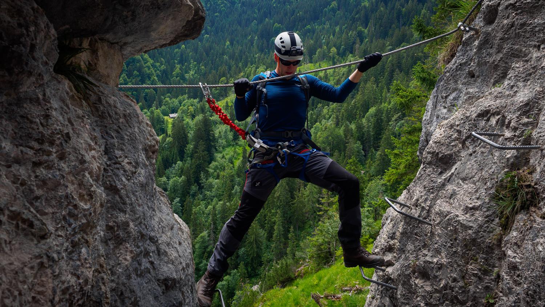 Klettersteig am Grünstein