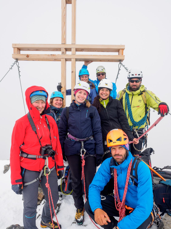 Gipfelfoto auf der Verpeilspitze