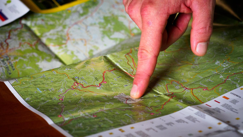 Blick auf die Karte