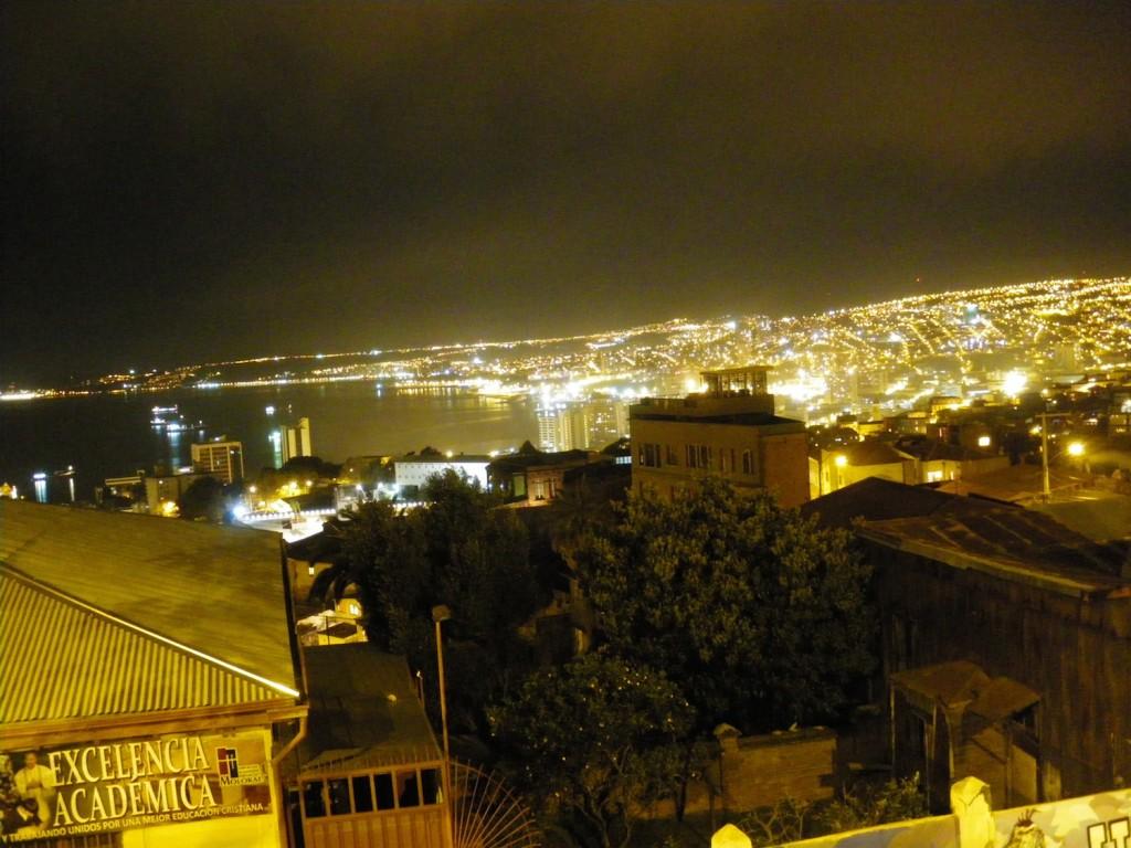 Valparaíso bei Nacht