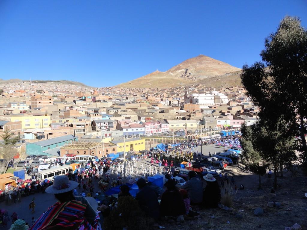 Überblick über Potosi und die Fiesta de Chutillos